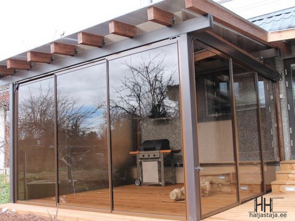 Terrass-klaasseintega
