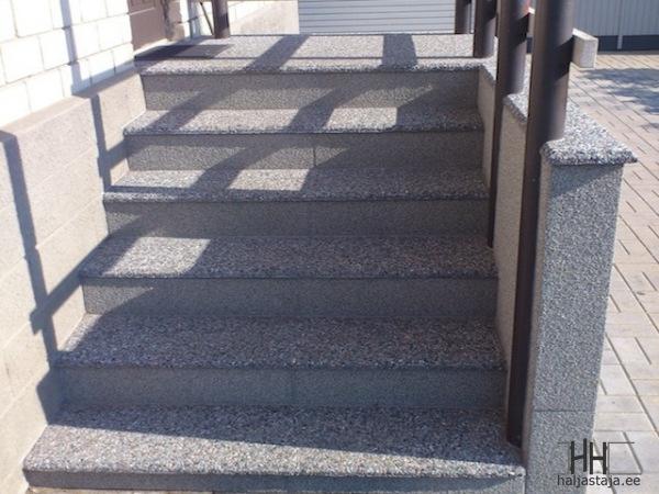 Pesubetoonist trepiplaadid